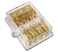 4-fach AGU Sicherungsverteiler, vergoldet