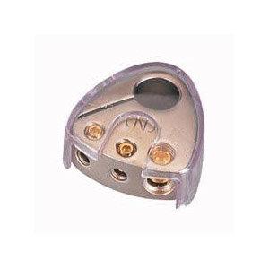 Batterieklemme Platin/Gold Pluspol, 1x25qmm, 2x10qmm