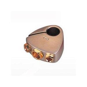 Batterieklemme Platin/Gold Minuspol, 1x25qmm, 2x10qmm
