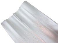 AIV Kunst-Leder, Carbon Look, silber, Premium Qualität