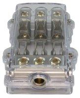 3-fach AGU Sicherungsverteiler, vernickelt