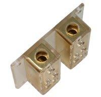 2 -> 8 Doppel-Verteilerblock, vergoldet