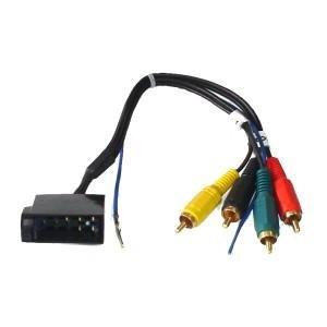 ISO-Stecker 10 pol. auf Cinch 4-Kanal mit Remote, vergoldete Cinch-Stecker