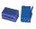 Mini-ISO-Buchsengehäuse 10er Beutel blau 8-pol.