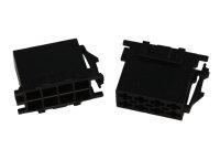 ISO-Strom Buchsengehäuse 8-polig schwarz 10er Pack