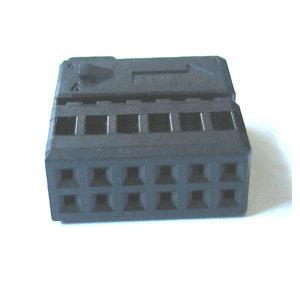 Quad-Lock Innenstecker , 12 polig, passend für Codierung 72019 + 72020 , Farbe schwarz