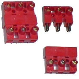Steckverbinder 3-polig, für Kabel bis 4 mm²