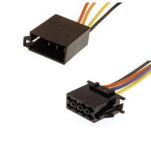 Radio-Adapterkabel , ISO-ISO Verlangerung , Strom , 14cm, ausgeschleifte Stromkabel + Masse