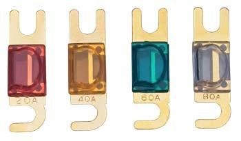 Mini-ANL Sicherung, 80 A, vergoldet