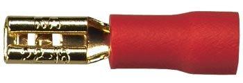Sinus Live Flachstecker 2,8 mm, rot, für Kabel bis 1,5 mm²