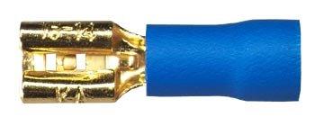 Sinus Live Flachstecker 4,8 mm, blau, für Kabel 2,5 - 4 mm²