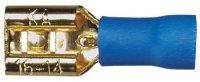 Sinus Live Flachstecker 6,3 mm, blau, für Kabel 2,5 - 4 mm²