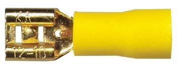 Sinus Live Flachstecker 6,3 mm, gelb, für Kabel 4 - 6 mm²