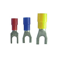 Gabelkabelschuhe M4, gelb, Kabel bis 6,0qmm, 100 Stück