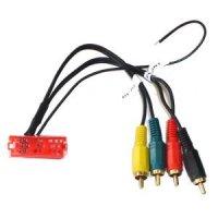 MINI-ISO Stecker 20-polig auf Cinch 4-Kanal mit Remote,...