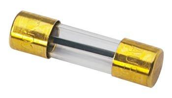 AGU Glassicherung, 1 A, vergoldet